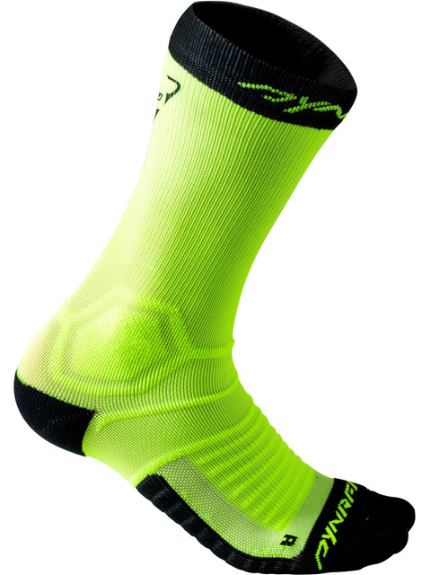 Dynafit Ultra Cushion - Calcetines Running Hombre - amarillo/negro